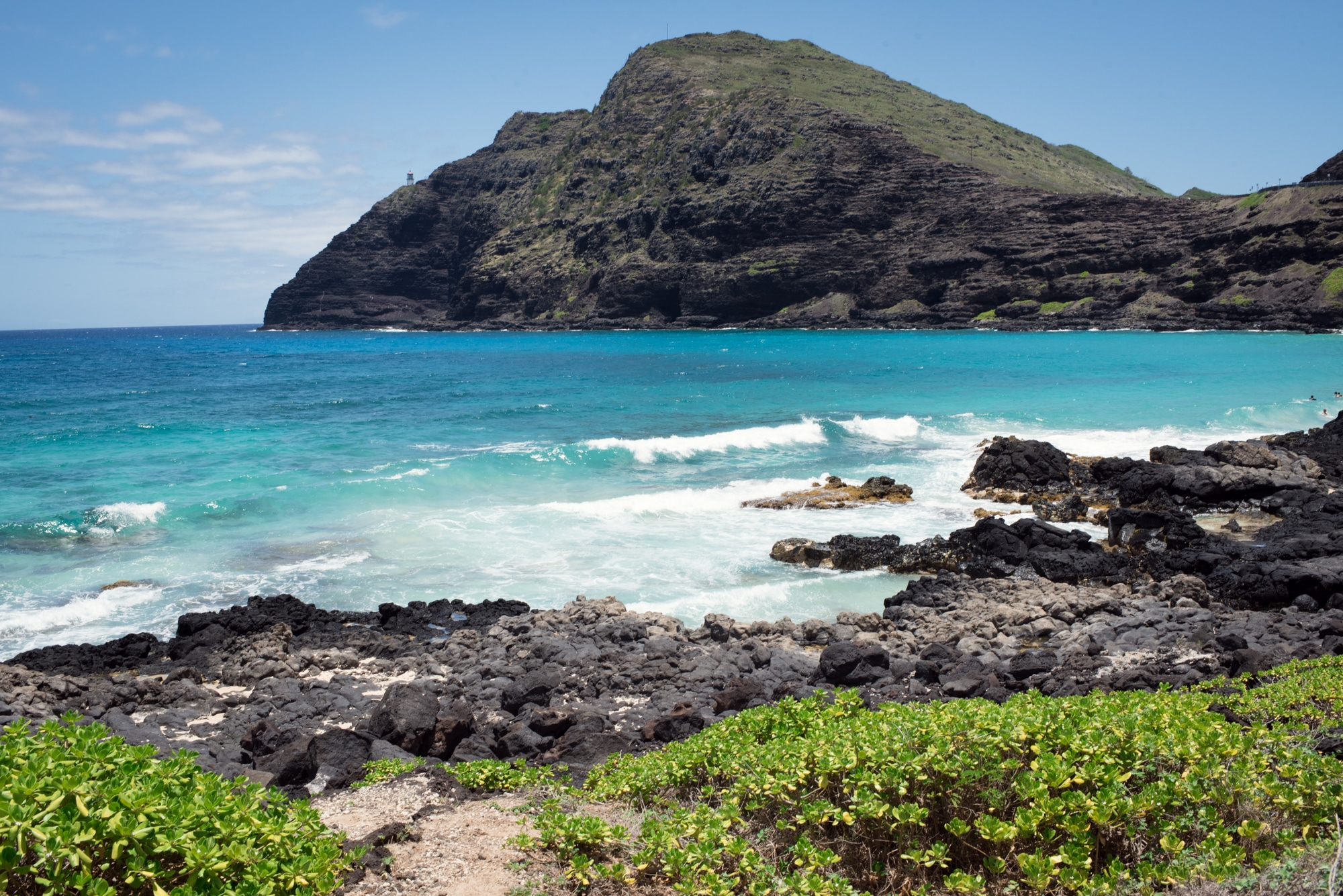 landscape shot using rule of thirds of beach in hawaii
