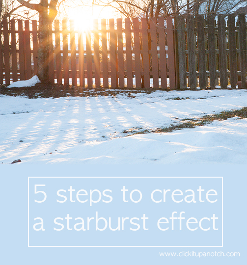 5 steps to create a starburst effect
