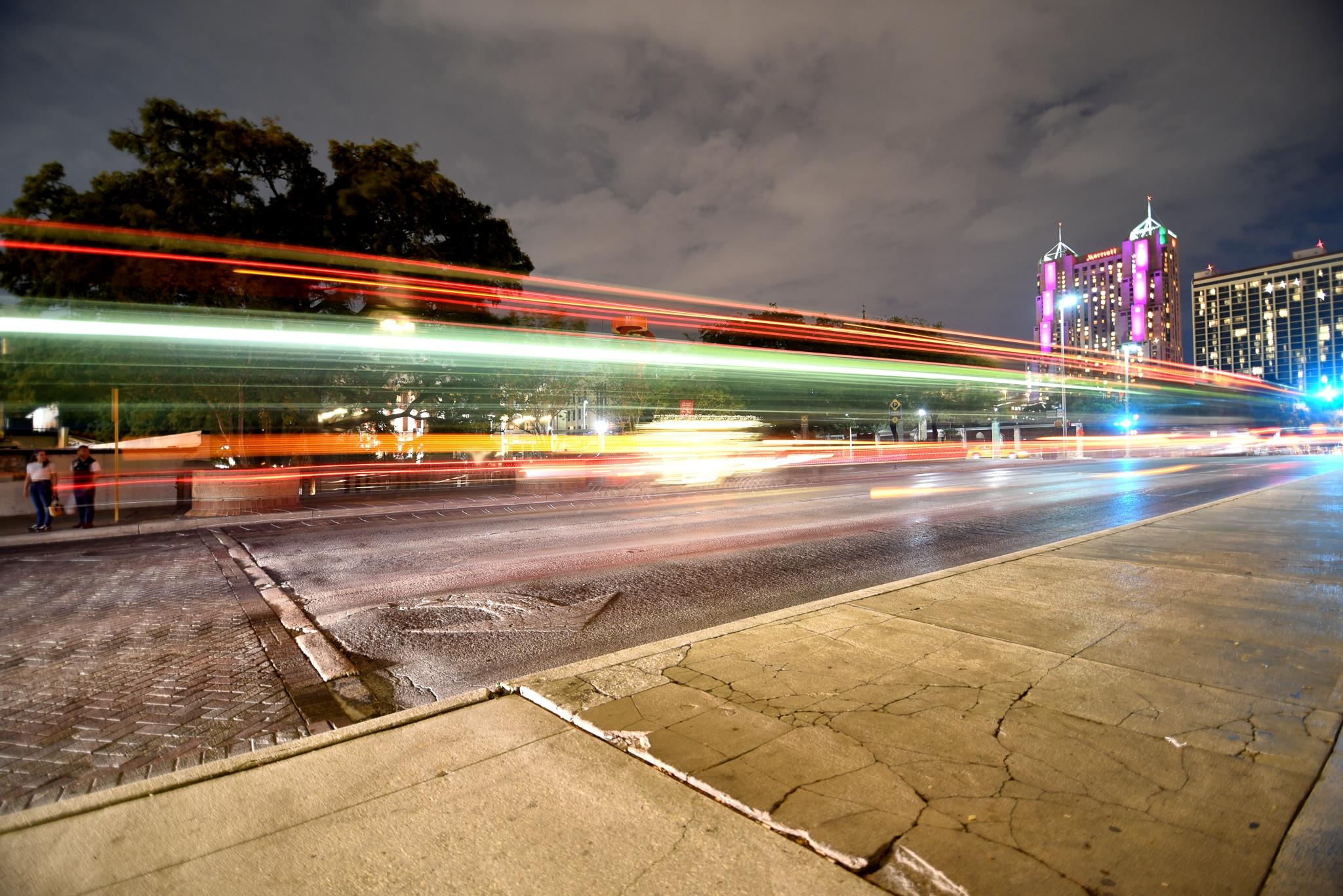 slow shutter speed for car lights trails