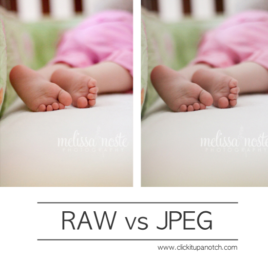 RAW vs JPEG via Click it Up a Notch