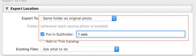 lightroom export settings for facebook