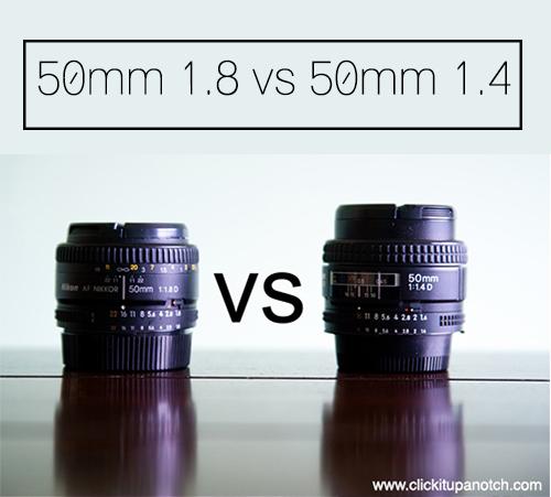 50mm 1.8 vs 50mm 1.4