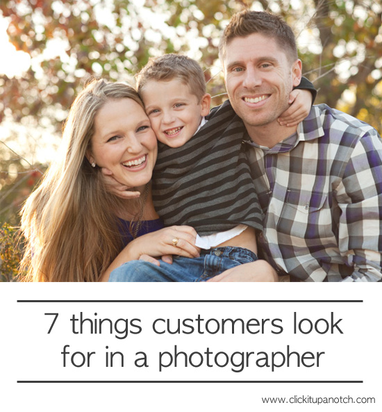 7 things customers look for in a photographer