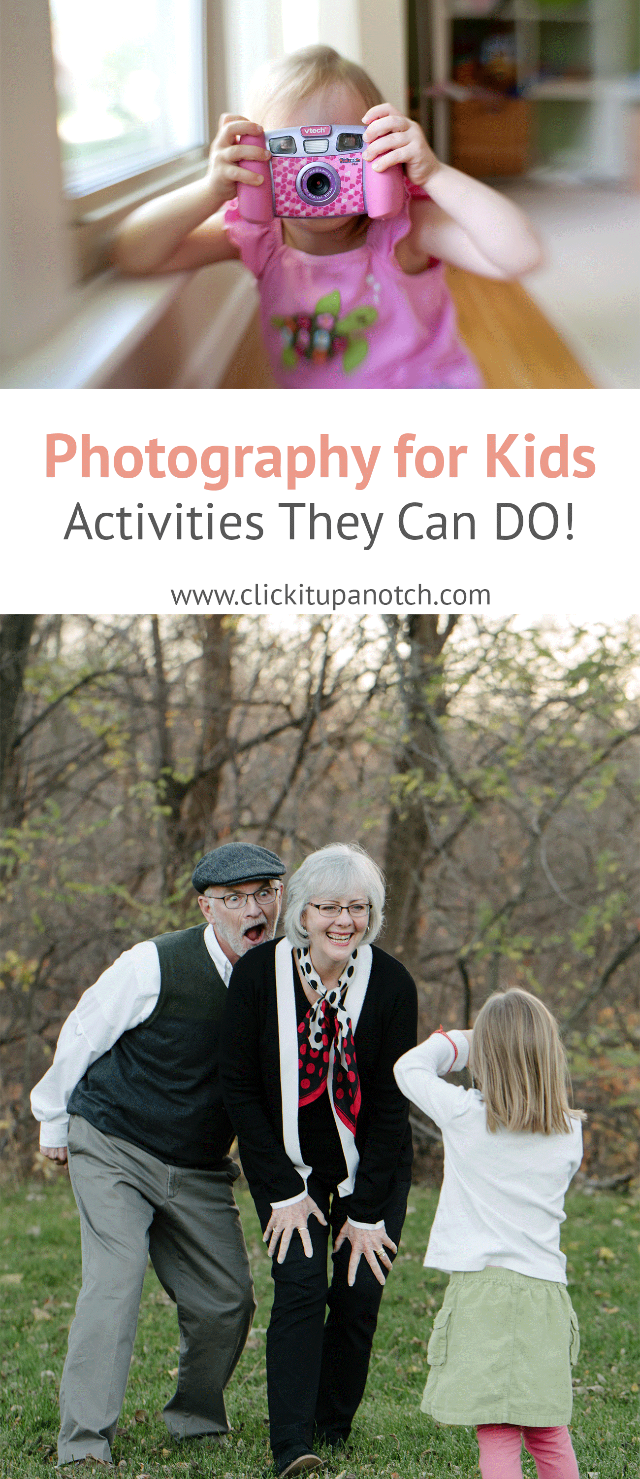 Photography activities for kids broken down by ages! Yes, an easy to follow directions for kids to tackle photography projects and learn photography.