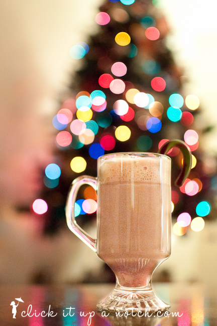 Christmas tree light bokeh click it up a notch