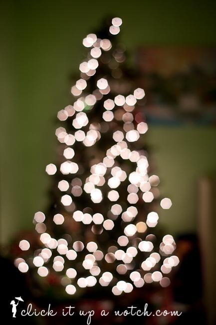 Christmas Tree Light Bokeh - Click it Up a Notch