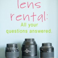 Camera lens rental questions answered