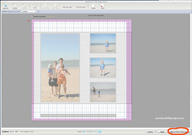 blurb book layout