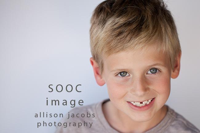 garage light portrait SOOC image
