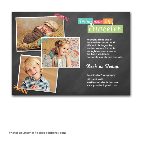 photography  marketing postcard