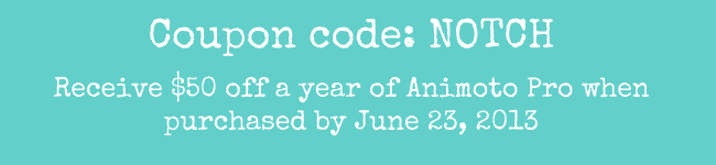 animoto coupon code