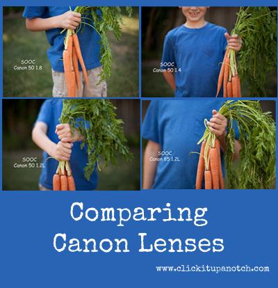 comparing canon lenses via click it up a notch