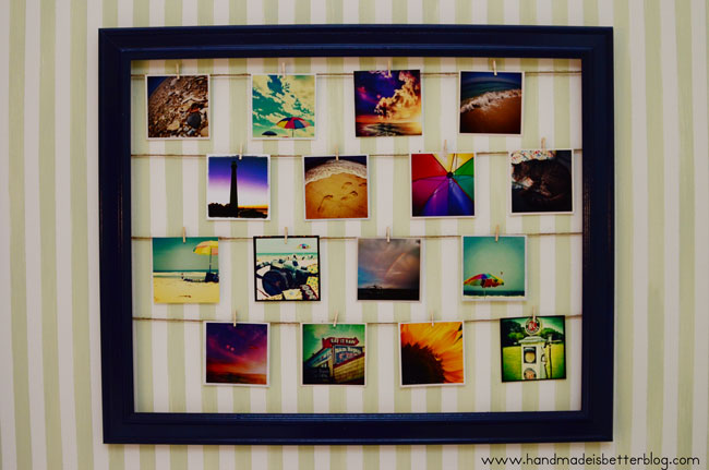 Photo Wall Display DIY Picture Frame Clothesline Click