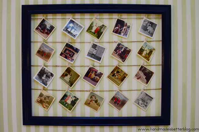 Photo Wall Display via Click it Up a Notch