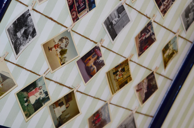 Photo Wall Display via Click it Up a Notch