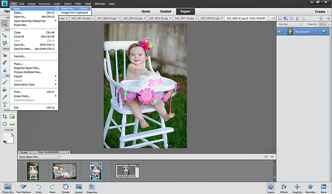 Creating Storyboards in Photoshop Elements
