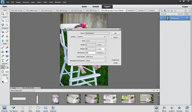 creating a storyboard in photoshop elements
