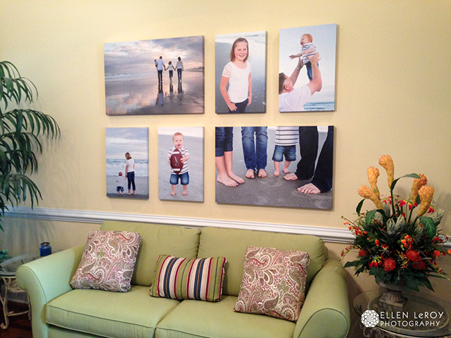 Canvas Family Photo Decorating Ideas Wall Display It Up A Notch