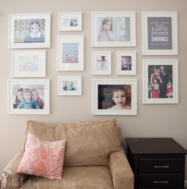 How To Make A Photo Wall Display Click It Up A Notch