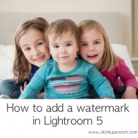 How to add a watermark in Lightroom 5