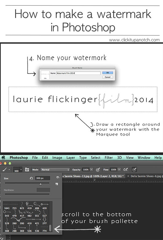 Creating a watermark in photoshop: Step 9