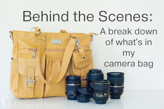 Peek inside my camera bag
