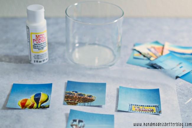 Simple Mod Podge Photo Transfer onto Glass Tutorial