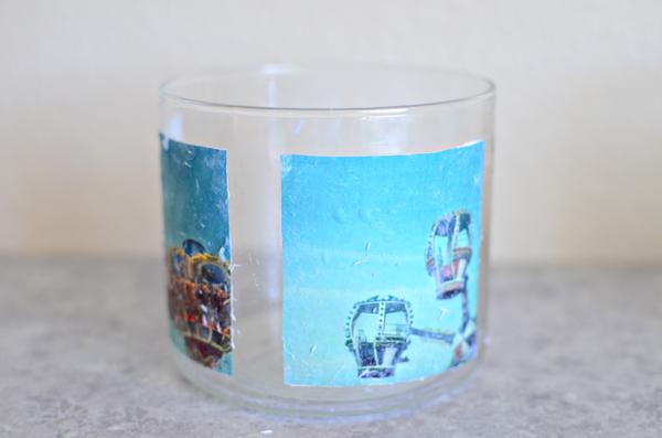 how to photo transfer onto glass