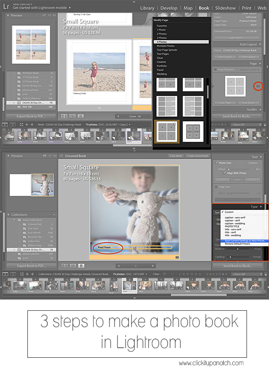 3 steps to make a photo book in Lightroom
