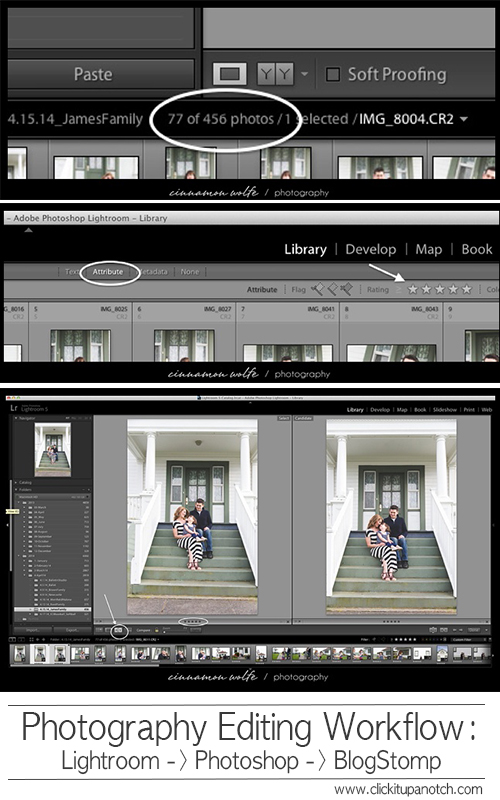 Photography Editing Workflow by Cinnamon Wolfe via Click it Up a Notch