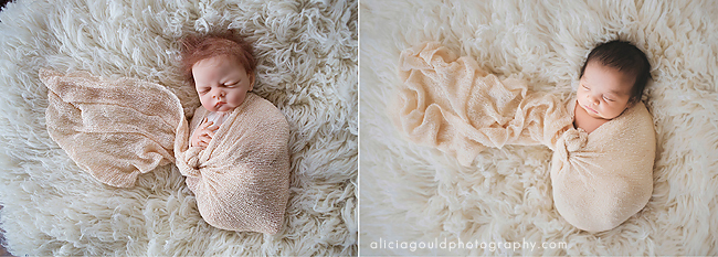 Using a doll to practice using a newborn wrap for photography