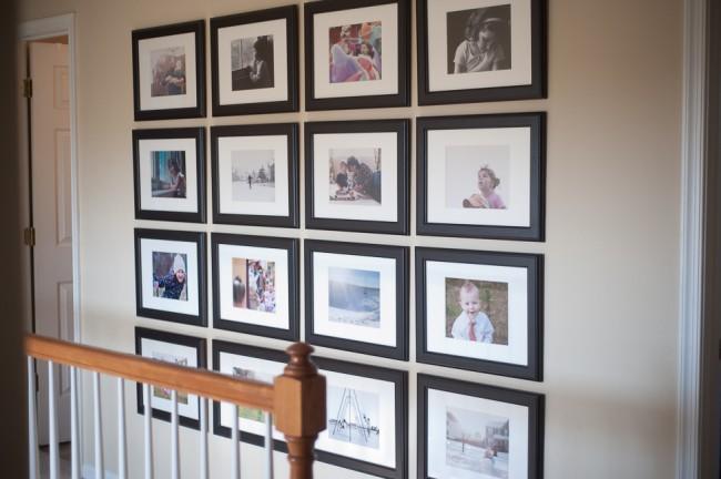 Photo Wall Display Symmetry