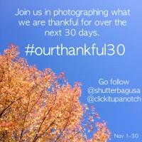 Ourthankful30 challenge