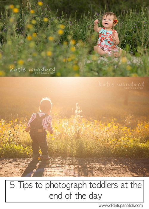 Toddler photography | 5 tips to photograph toddlers at the end of the day