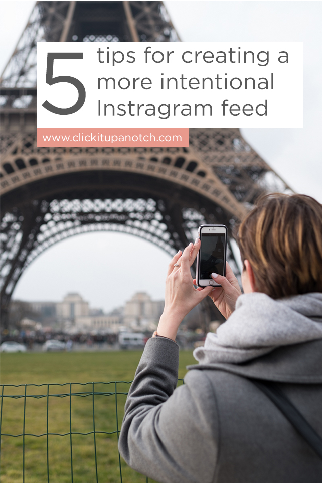 5 tips for creating a more intentional Instragram feed