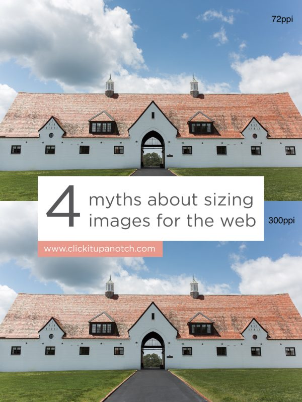 I wish I had read this post before I started posting my images on the web. 4 Myths About Sizing Images on the Web.
