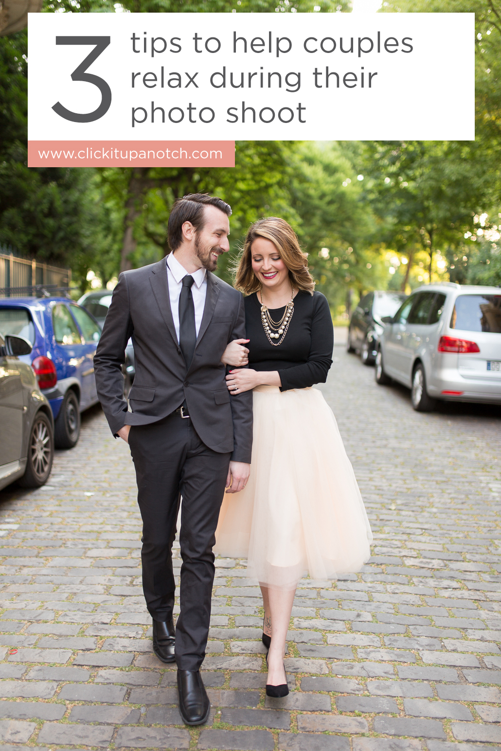 Love the first tip about getting them to move! Read - 3 Tips to Help Couples Relax During Their Photo Shoot