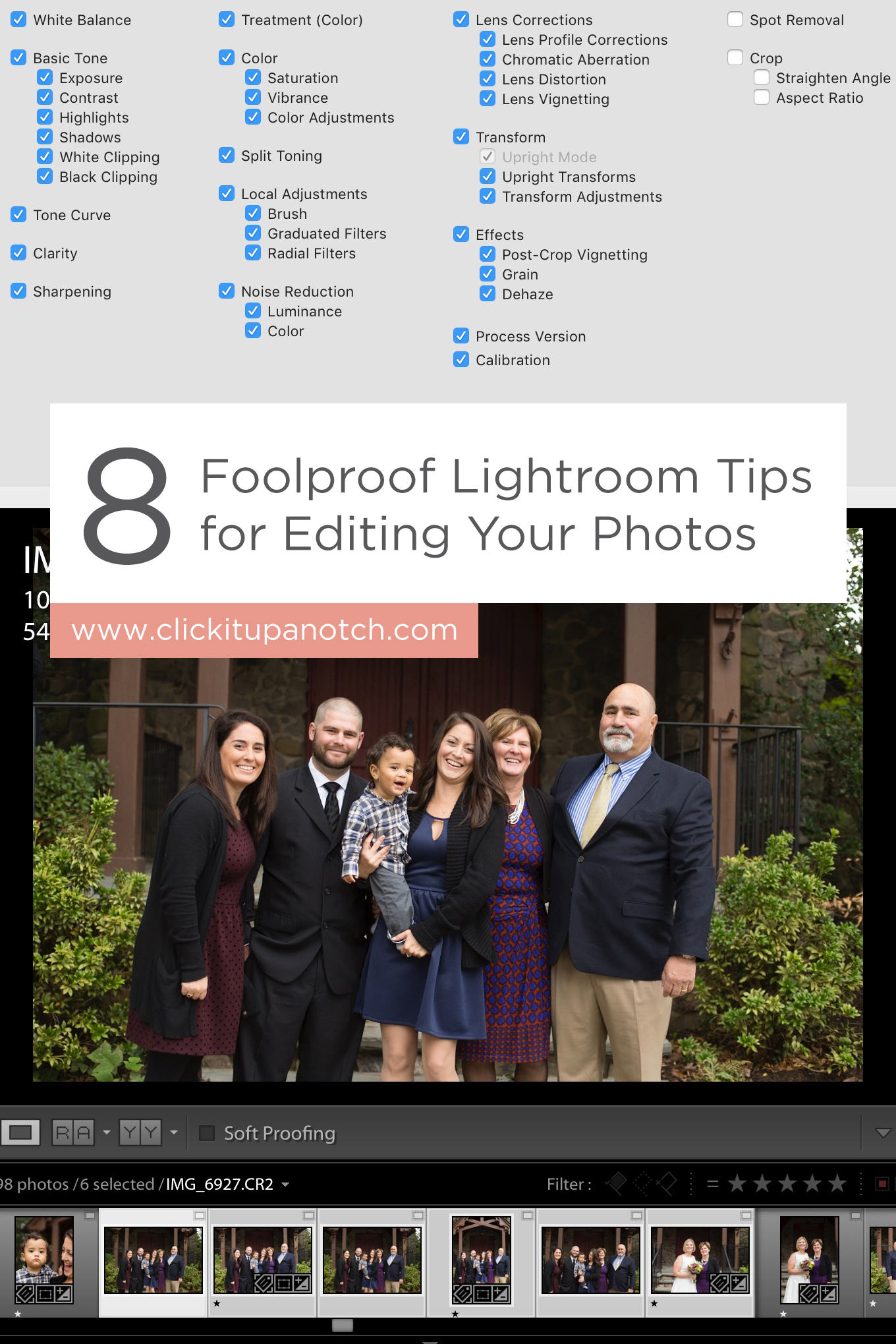 "These tips are a MUST for speedy editing in Lightroom! Read - ""8 Foolproof Lightroom Tips for Editing Your Photos"""