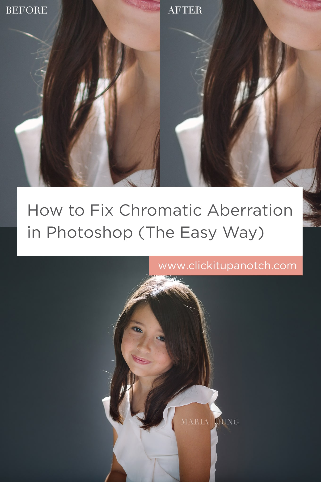 """Super easy tutorial to follow and lots of pictures that explains everything. Read - """"How to Fix Chromatic Aberration in Photoshop (The Easy Way)"""""""