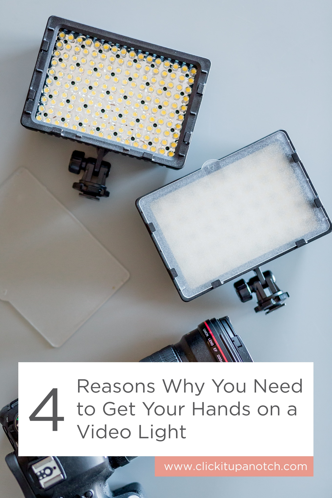 "This post is a must read now that the days are getting shorter. Love how affordable they are too! Read - ""4 Reasons Why You Need to Get Your Hands on a Video Light"""