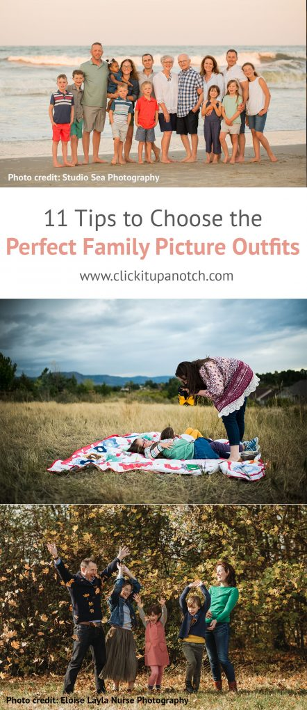 Use these 11 tips to choose the perfect family picture outfits for your next session. Move away from matching outfits and go for coordinating instead.