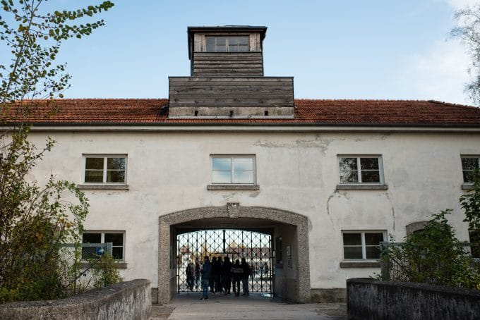 Entrance to Dachau concentration campe