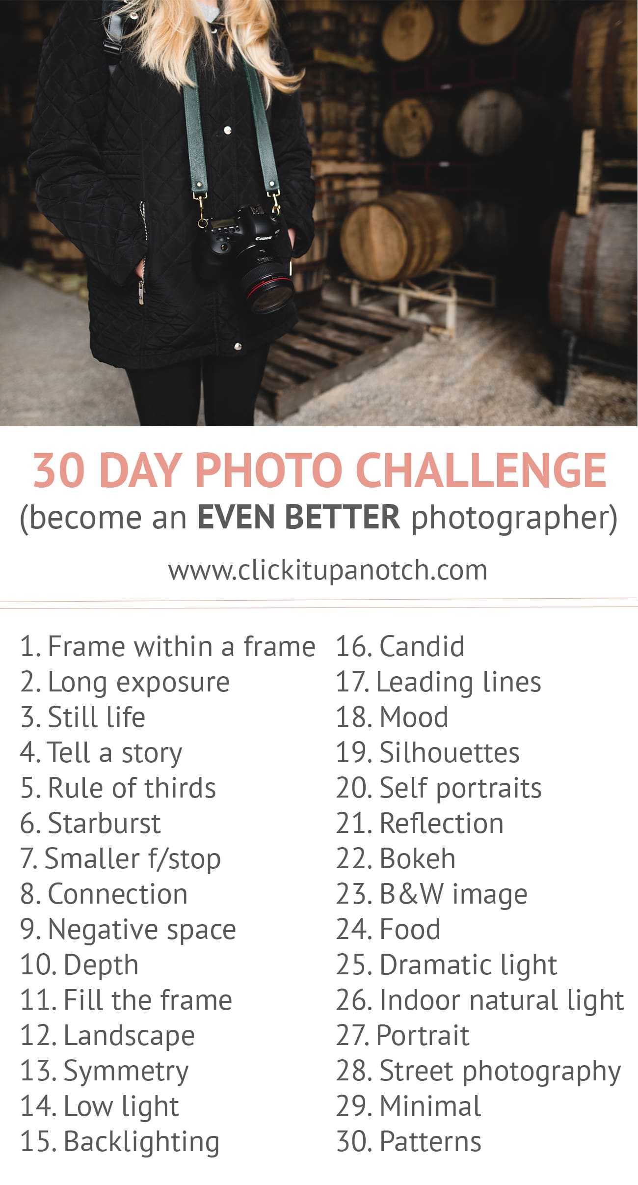 30 day photo challenge prompts