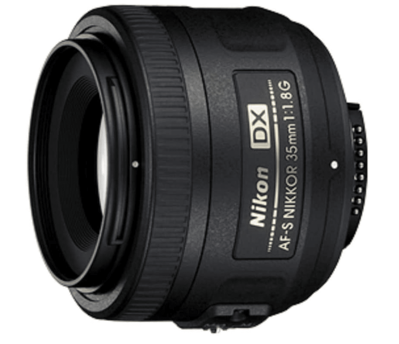 Black spherical camera lens Nikon 35mm 1.8 best gifts for photographers.
