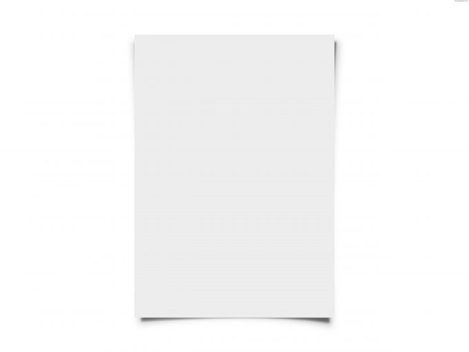 A piece of white paper which can be used to adjust white balance.