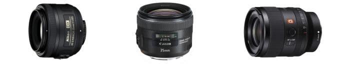 Black spherical camera lens Nikon 35mm 1.8 best gifts for photographers.