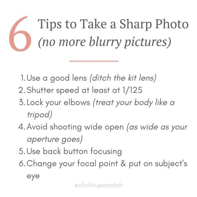 tips to take sharp photos no more blurry photos