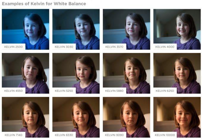 Kelvins for white balance chart